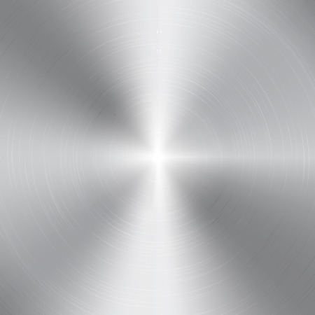 platinum metal: High contrast circular brushed aluminum texture Illustration
