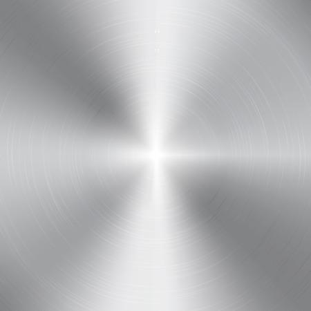 Wysoki kontrast szczotkowanego aluminium tekstury okrągłe Ilustracje wektorowe
