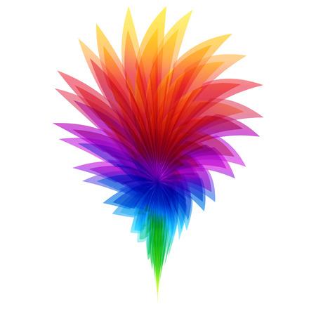 Rainbow bloem en template-concept