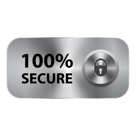 secure: 100 secure button and template concept Illustration
