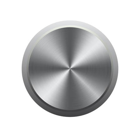 3d circle: Metal button  and template concept Illustration