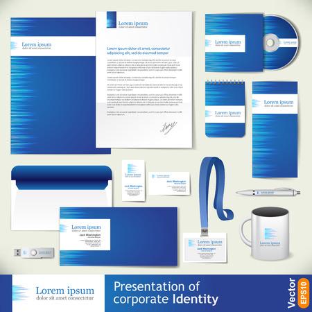 guideline: Corporate style blue color design