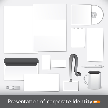 presentation card: Presentation of corporate identity and brand Illustration
