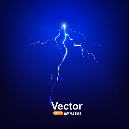 bolt: lightning bolt at night Illustration