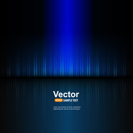 electronic background: blue equalizer and illustration