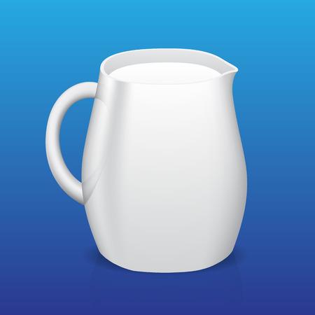 cocina caricatura: Jarra de leche