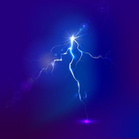 electric shock: rayo y la carga de la ilustración