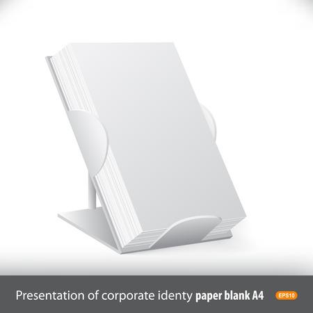 Reclamebord voor de presentatie van promotiemateriaal: flyers, brochures, briefpapier Stock Illustratie