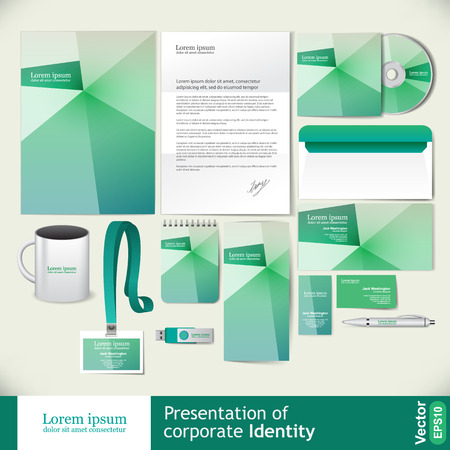 mock up: Abstract light green corporate identity