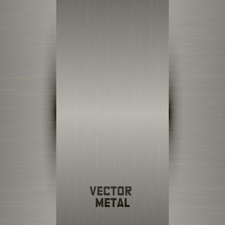 chromeplated: Chrome-plated metal plate and vector illustration Illustration