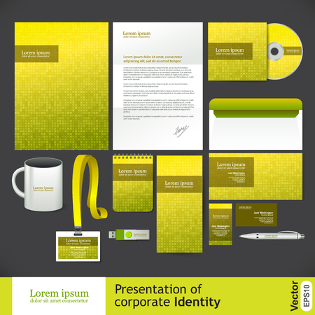 book cover design: Yellow corporate Identity and vector illustration Illustration