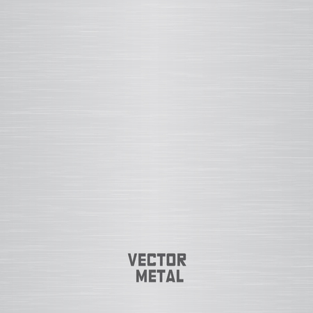 Metal plate, steel texture and vector illustration
