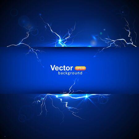 streak lightning: Blue plate under voltage, the discharge current