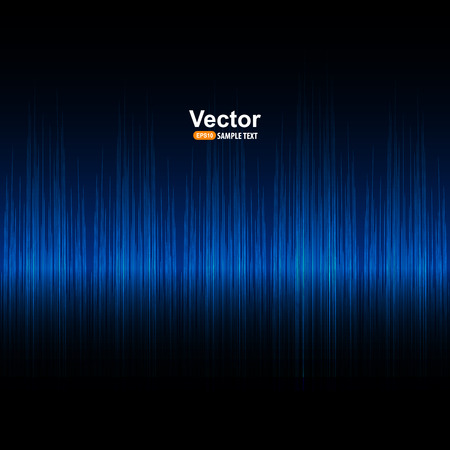 Vector sound and blue equalizer Stock Illustratie