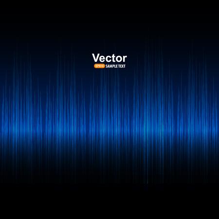 Vector Sound und blau Equalizer Standard-Bild - 51859181