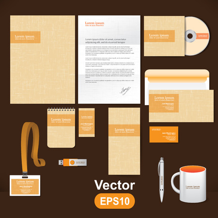 Template documents for the company and vector illustration