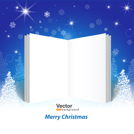 mailing: Christmas greetings, with a booklet template for header of the site or mailing