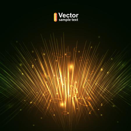 Gold lines equalizer, computer Networks and vector illustration Stock Illustratie