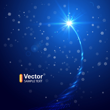 blue stars: Christmas star and vector illustration Illustration