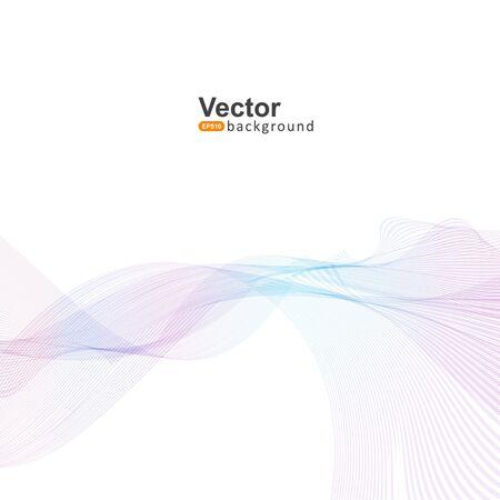 laser light: Laser light waves for the companys business presentation and vector illustration Illustration
