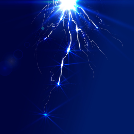 Electric lighting effect, abstract techno backgrounds and vector illustration