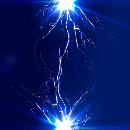 discharge: The discharge of electricity, lightning and vector illustration