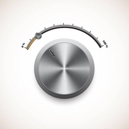hi fi: Volume control panel and vector illustration Illustration
