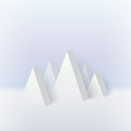 mountain snow: 3d mountain, snow graphic geometric and vector illustration