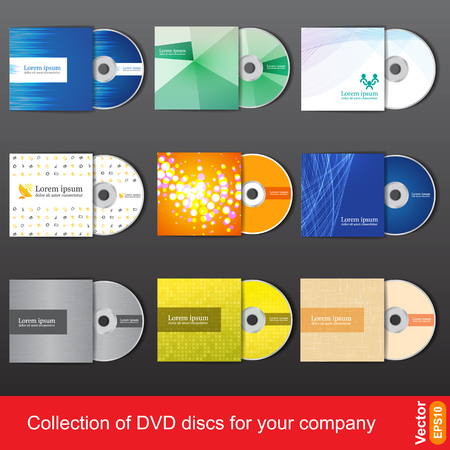 Cd or dvd design template for company presentation and vector illustration