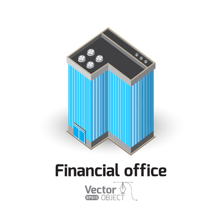 headquarters: Financial office and vector illustration Illustration