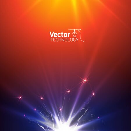 Technological background with the radiance for business presentation Vettoriali