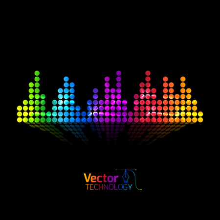 waves vector: Vector equalizer and club illustration
