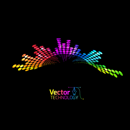 Vector equalizer and club illustration