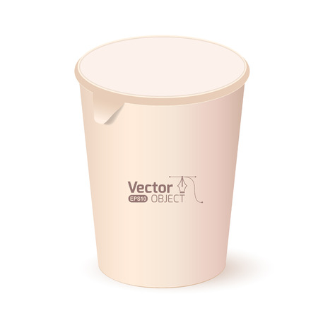 lid: Paper cup with a lid