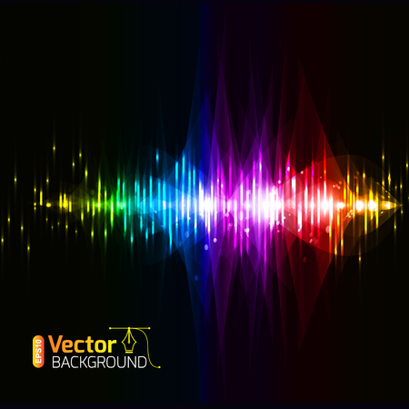 analyzer: Musical background and vector illustration Illustration