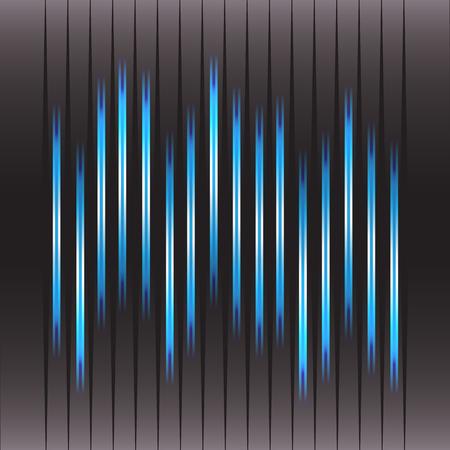 amplify: Technology equalizer and vector illustration Illustration
