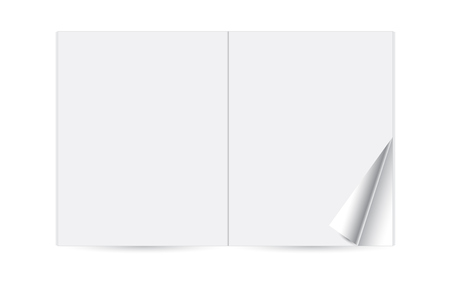 blank page: Paper magazine booklet, template reversal journal and vector illustration