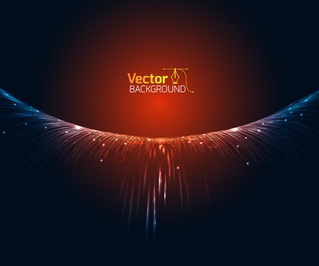 Technological wave and vector illustration Stock fotó - 51887083