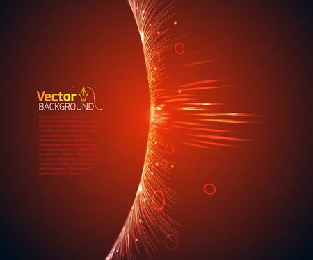 technological: Technological wave and vector illustration