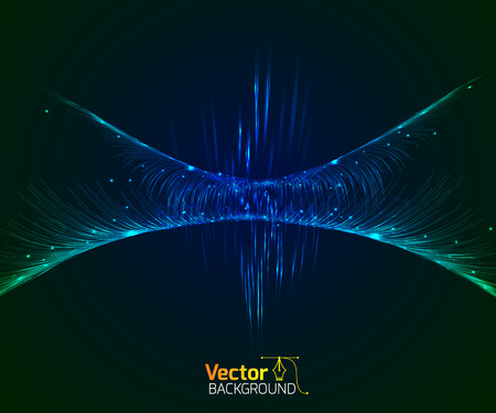 Technological wave and vector illustration