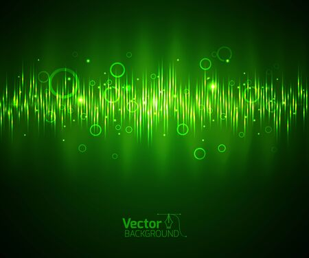 high technology: Green equalizer and vector illustration