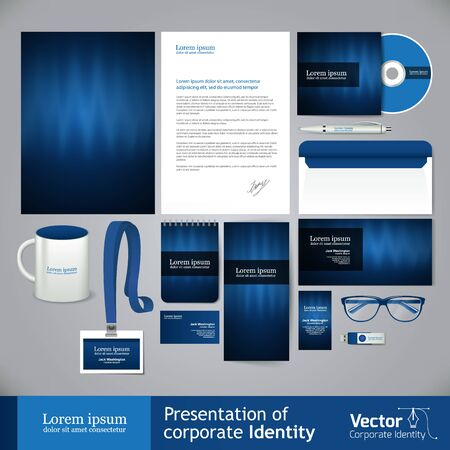 Business light blue corporate identity