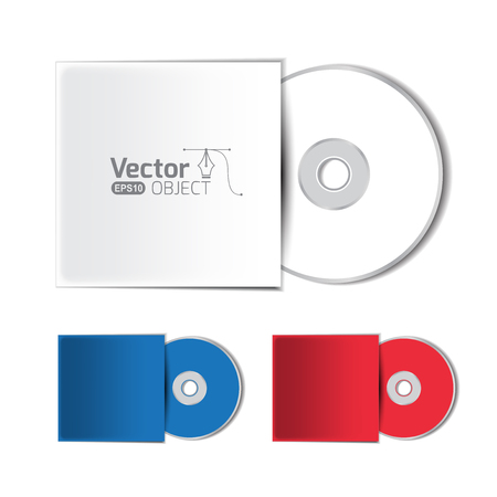 cd case: Dvd disc and vector illustration
