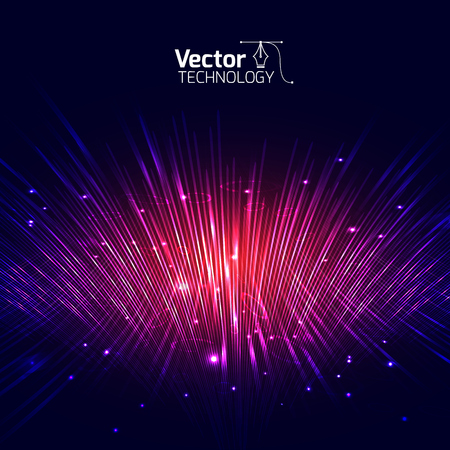 Vector lines equalizer 3D and illustration