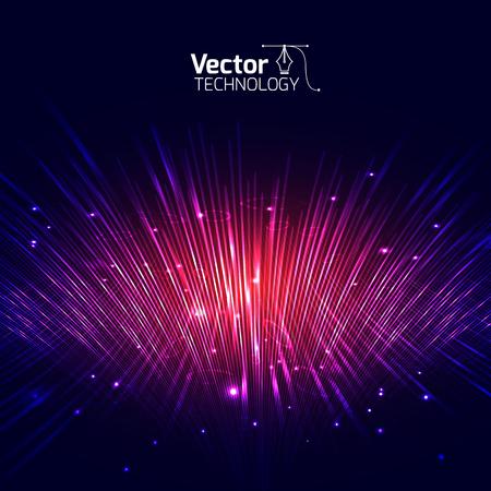 Vector lijnen equalizer 3D en illustratie