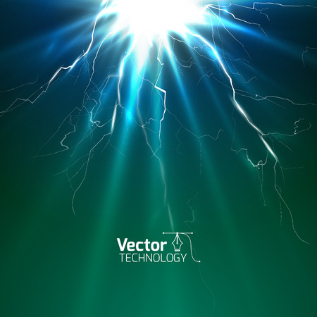 bolt: Jolt of electricity and vector illustration