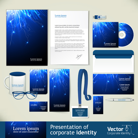 presentation of corporate identity and vector illustration