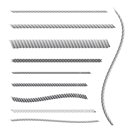 twine: Rope or twine vector line
