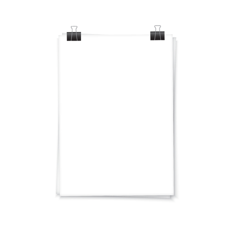 a4: paper a4 template and document Illustration