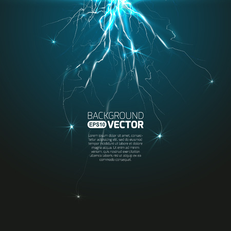 Experiment with discharge and lightning Illustration
